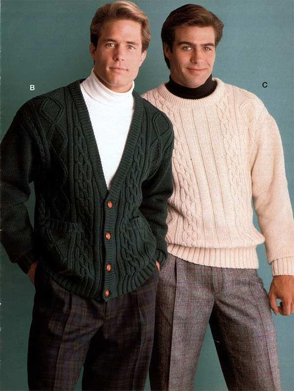 1990 Men's pleated pants turtlenecks and sweaters | 1990s ...