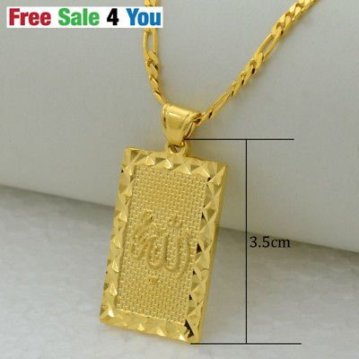 d4ef1936729 Prophet-mohammed-allah-Chain-pendant-necklace-gold-jewelry-muslim-Islamic- arab