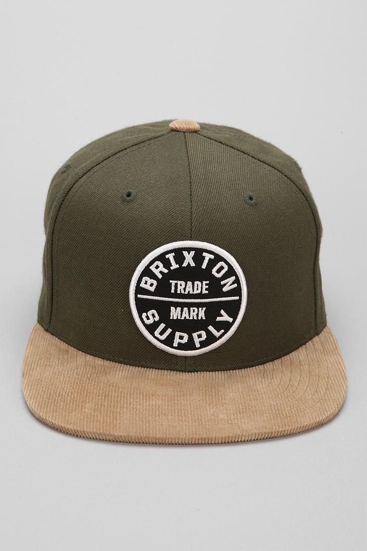 af984f1fbf0 Brixton Oath III Snapback Hat. This olive one too cute