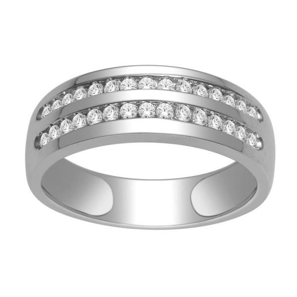 18kt White Gold Mens Diamond Wedding Band With 1 2 Carat Tw Of Diamonds Mens Rings Wedding Diamond Mens Diamond Wedding Bands Diamond Wedding Bands