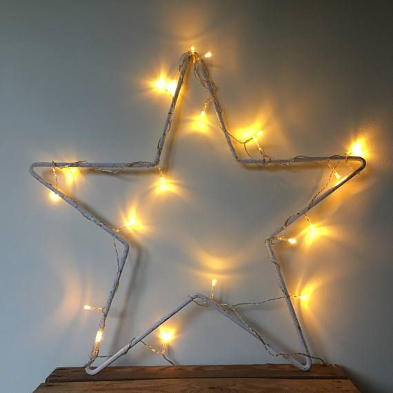 Rustic Metal Star Outline Hanging Large