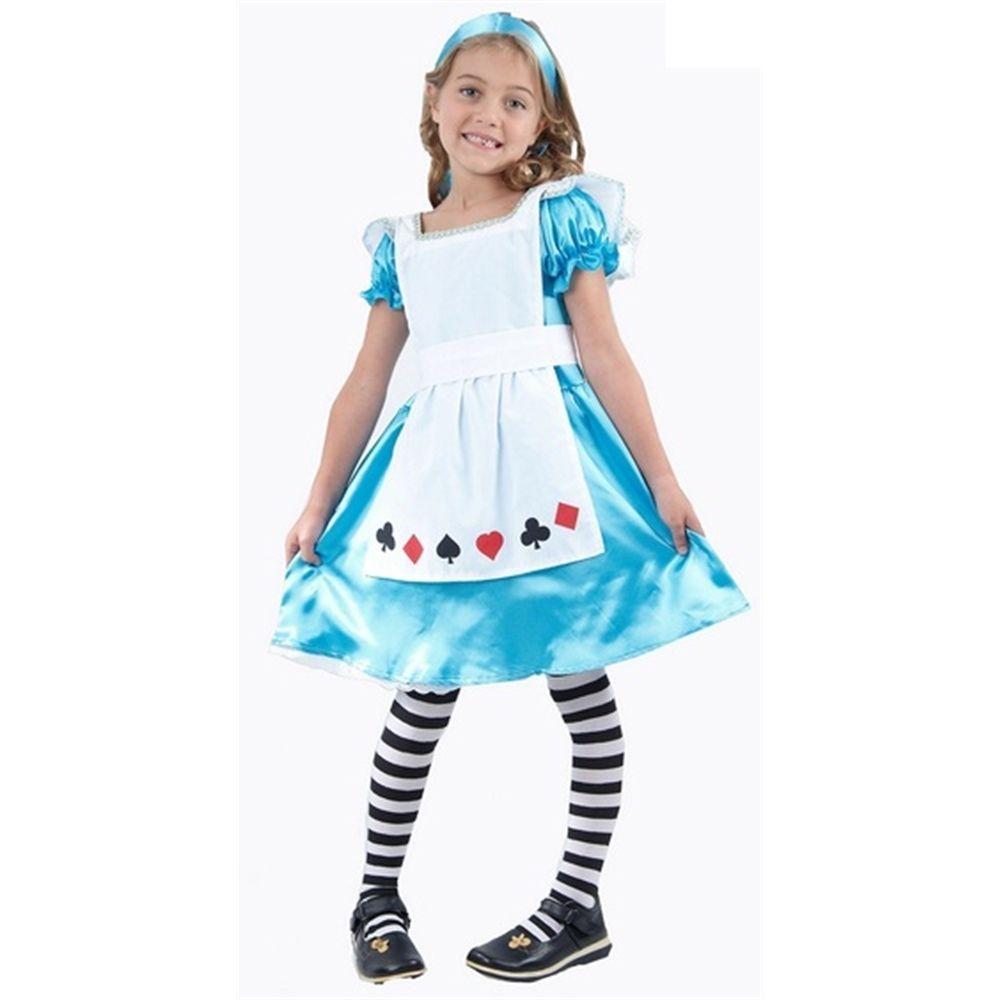 7-9 Years Medium Girls Alice Costume - Kids Childrens In Wonderland ...