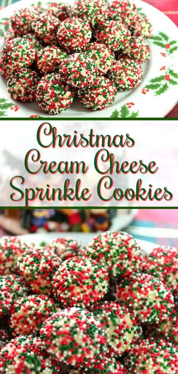 Christmas Cream Cheese Sprinkle Cookies Are Tender On The