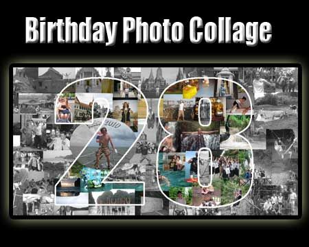 Gift For 28 Year Old Ex Bfriend Photo Collage Idea 28th Birthday Man