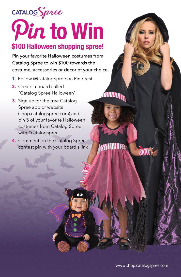 catalog sprees halloween pin to win contest pin your favorite halloween - Free Halloween Costume Catalogs