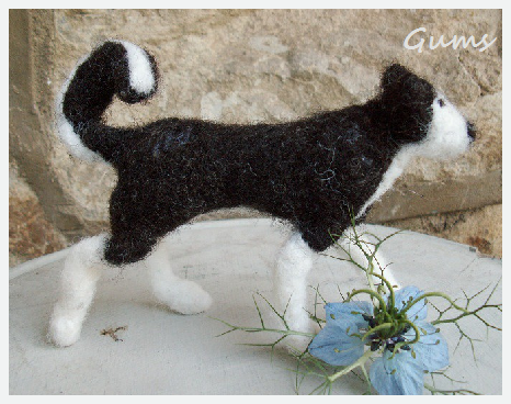 "Needle felted Steele from the film ""Balto"". Figure by Gums/Speckle"
