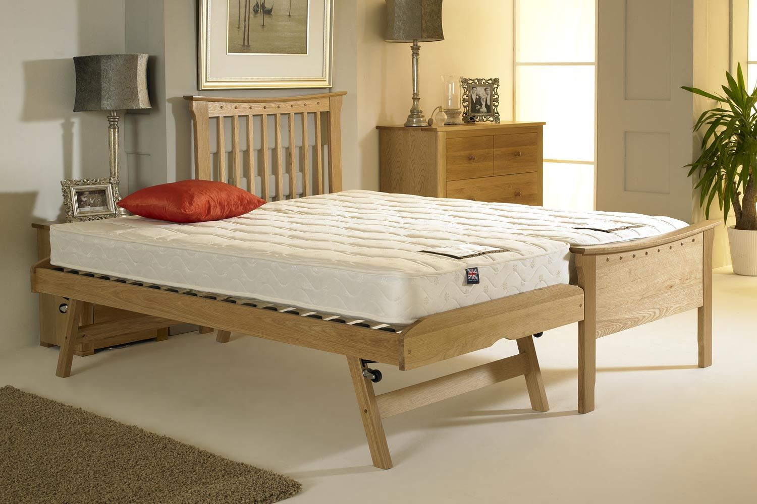portman solid oak guest bed 3ft single beds the oaks and guest bed