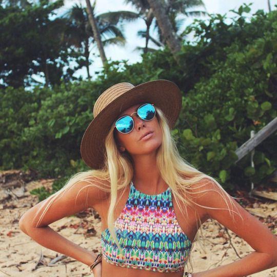 Look moda praia - chapéu 4524df881f4