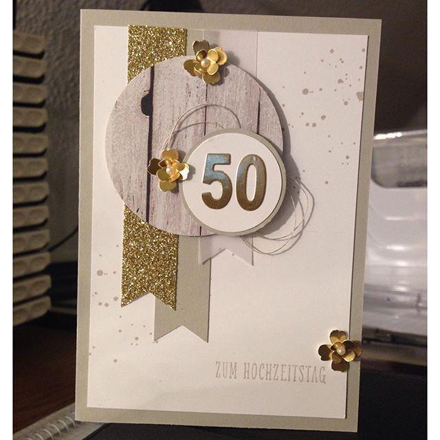 Karte Zur Goldenen Hochzeit Kreativersum Karte Hochzeit Gluckwunschkarte Hochzeit Geburtstagskarte