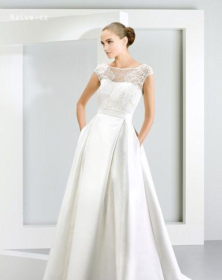 svadobné šaty 2015 JESUS PEIRO model 5016 detail