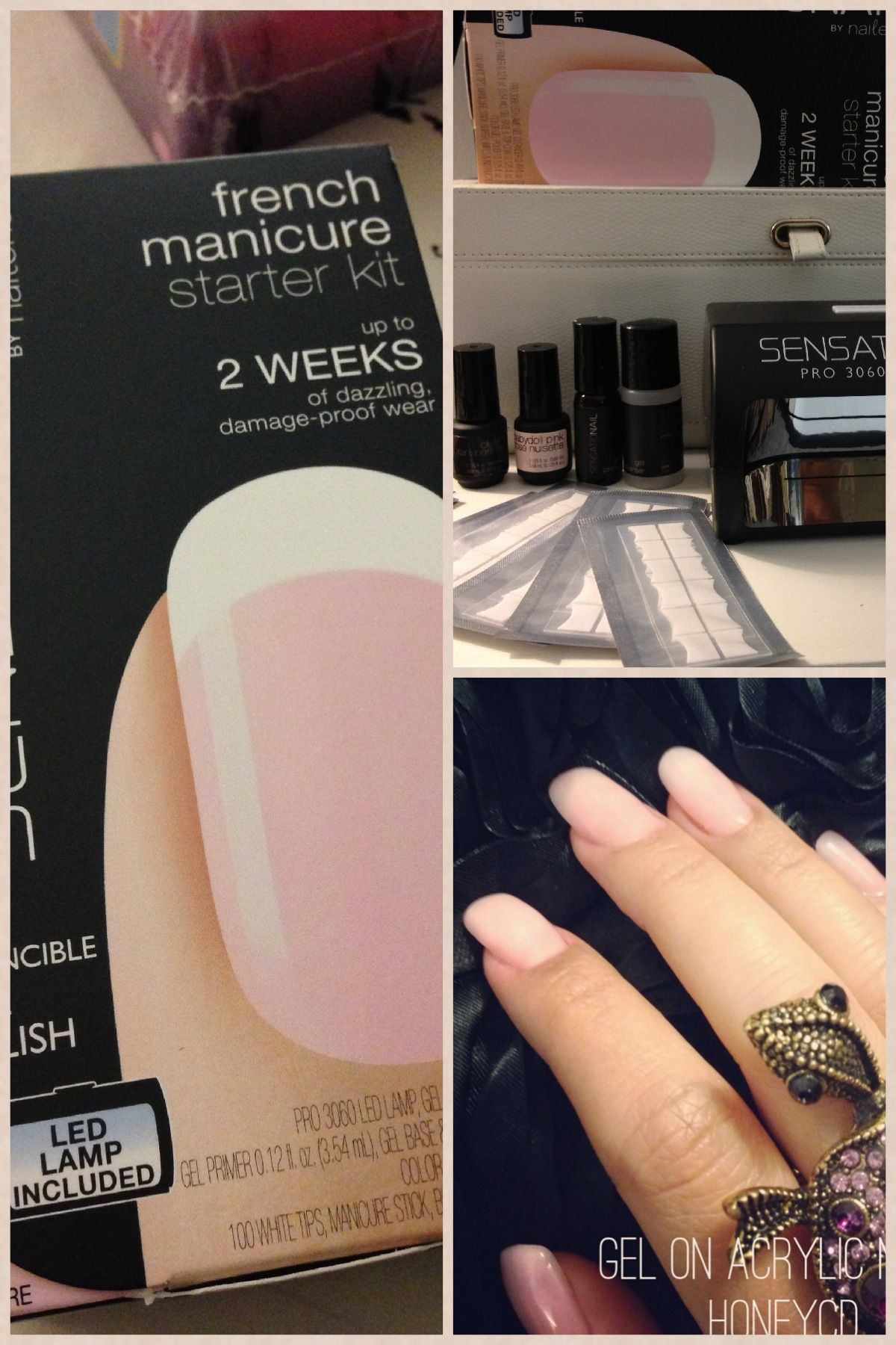 Sensationail French Gel Manicure Kit Sheer Pink Gel Polish