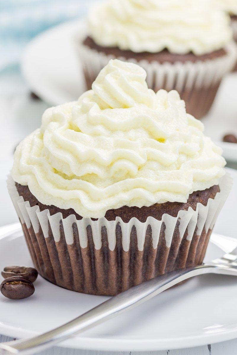 Black bottom cupcakes with chocolate cake mix