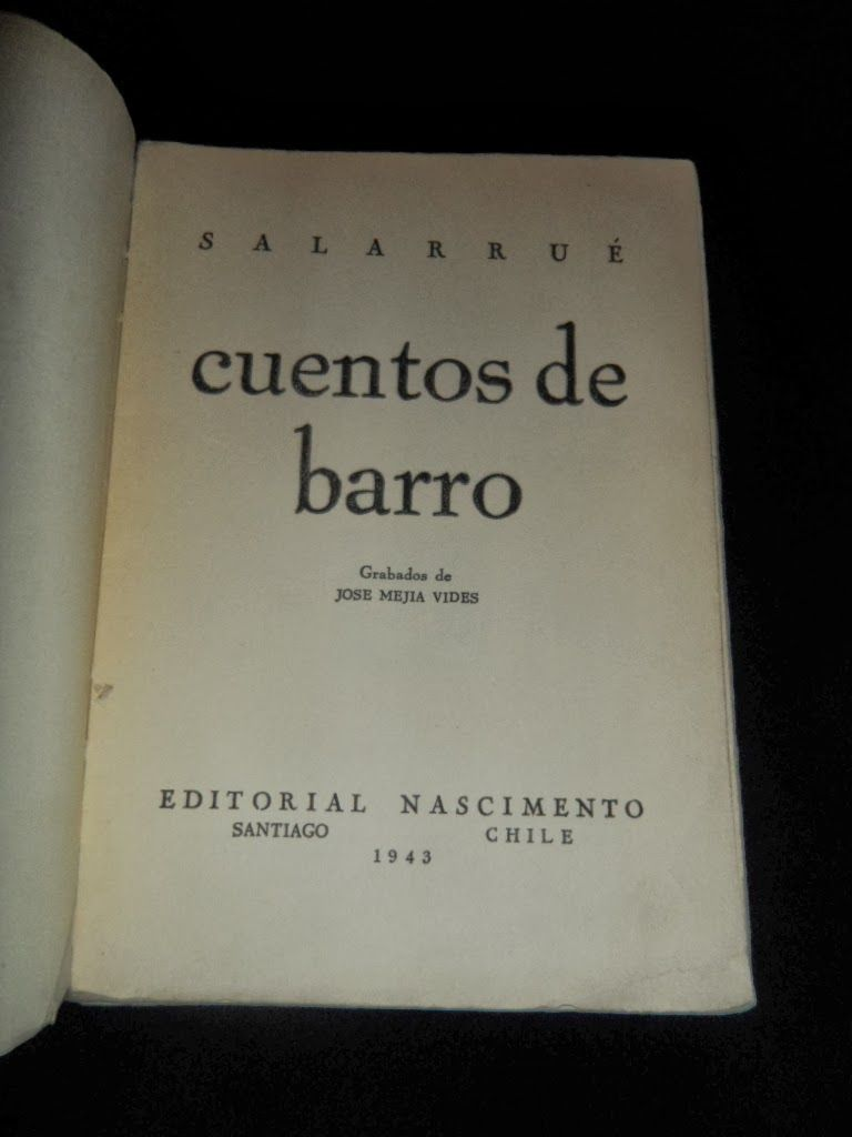 El Viejo Libro, Libreria Anticuaria, Edward Contreras Vergara, www.elviejolibro.com: Cuentos de Barro. Salarrue.(Luis Salvador Efraín S...