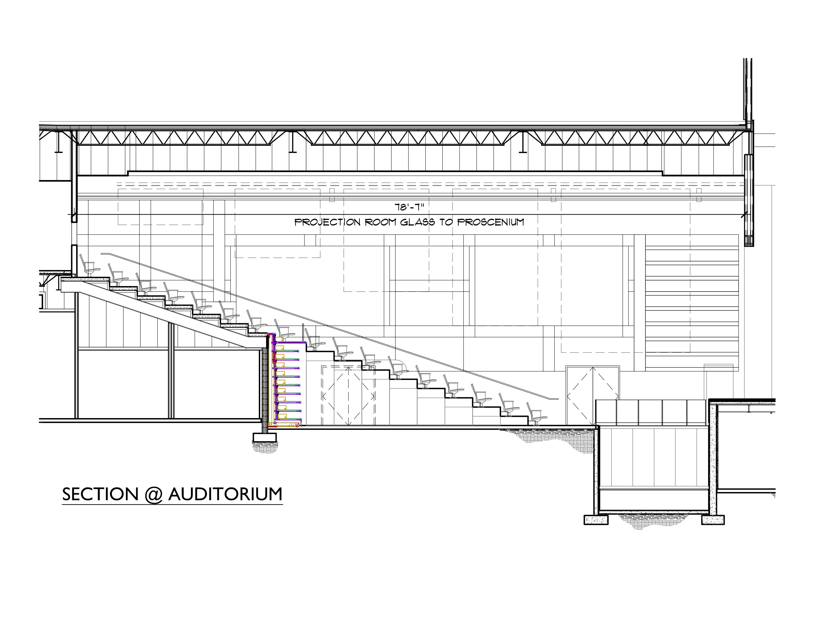 Section View Of Seating In The New Eppes Auditorium Bubble Diagram Architecture Diagram Architecture Bubble Diagram