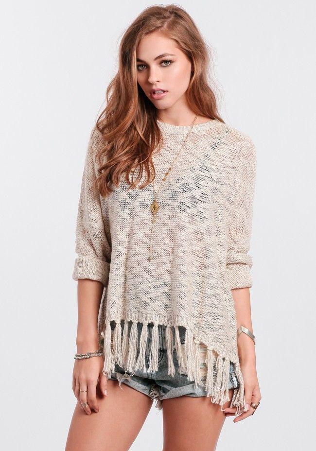 Easy Going Fringe Sweater