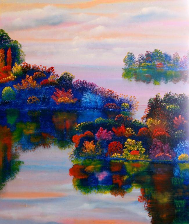 "Saatchi Art Artist: David Snider; Oil 2012 Painting ""Autumn Rhapsody"""