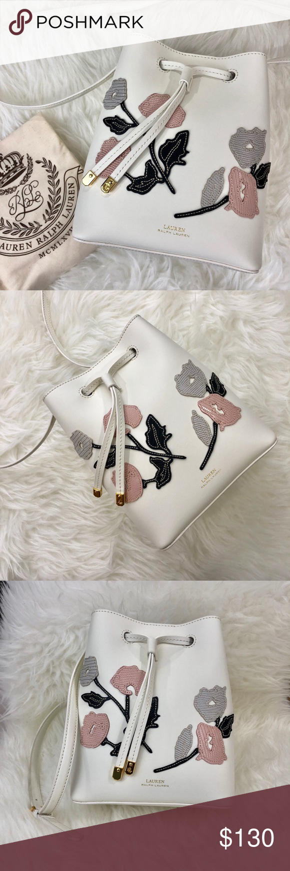 dd55806ed30 Includes dust bag and the strap is adjustable. Off white color. Lauren  Ralph Lauren Bags