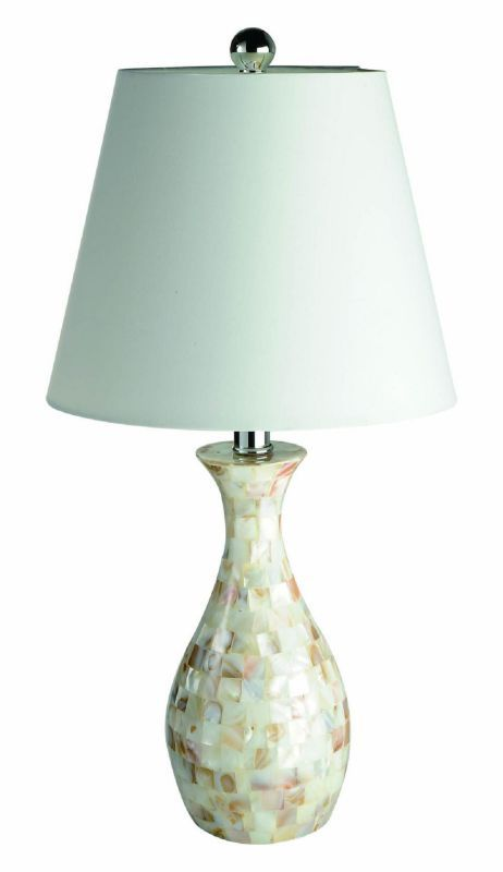 All The Rages Lt1002 Elegant Designs 22 05 Height 1 Light Table Lamp With White Mosaic Shell Lamps