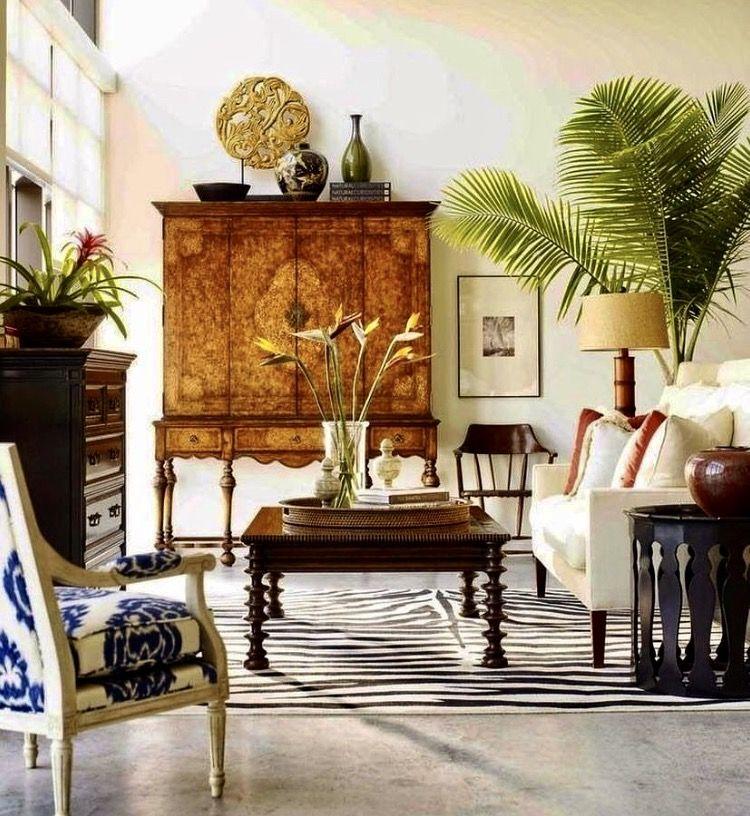 British colonial living room, tropical decorating. shop Lombardi ...