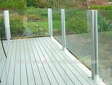 ausgeglichenes glas balkon gel nder. Black Bedroom Furniture Sets. Home Design Ideas