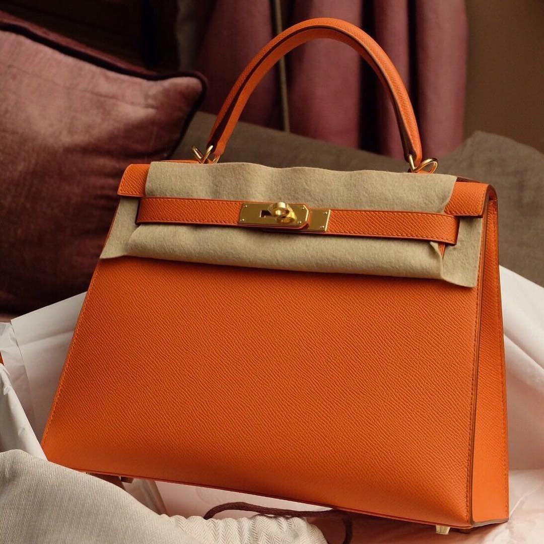 Hermes Kelly 25 Feu epsom sellier ghw  Hermeshandbags  d8db0337e5af6