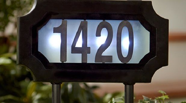 Solar Address Sign Lighted House Numbers Yard Stake Hanging Outdoor Wall Plaque Unbranded House Numbers Diy House Number Ideas Outdoor Solar House Numbers