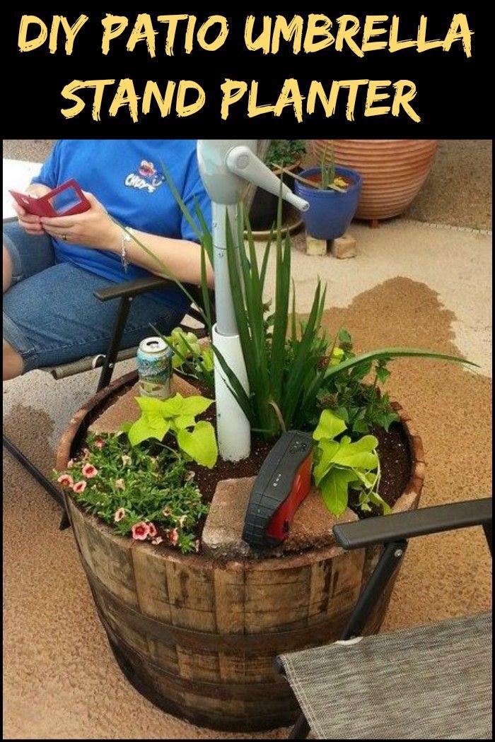 How To Build A Patio Umbrella Stand Planter Planter Ideas