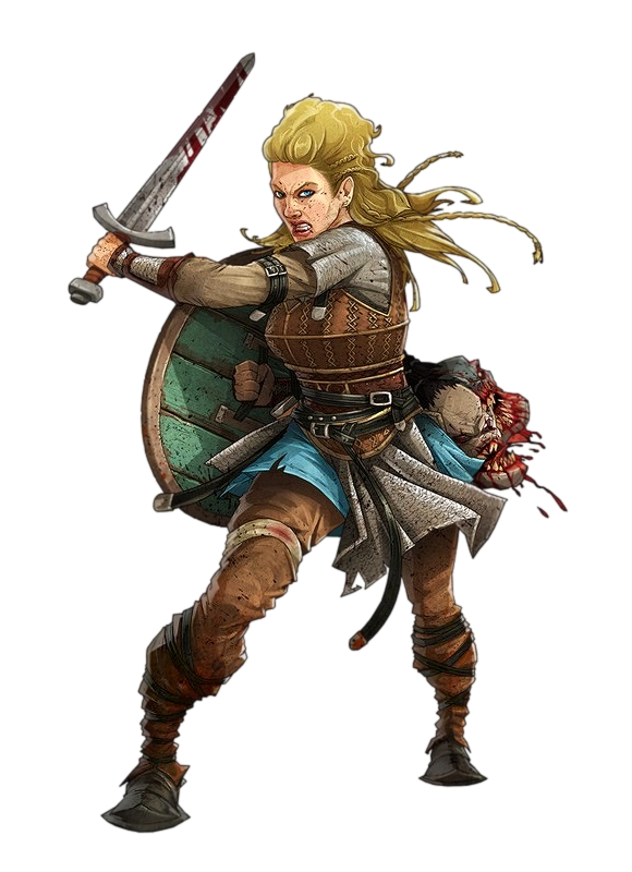 Female Human Viking Fighter - Pathfinder PFRPG DND D&D 3.5 ...
