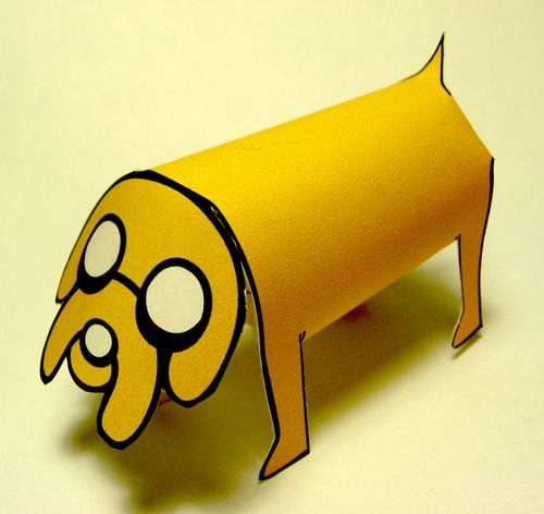 Jake from Adventure Time now at papercrafted.com - Nice Paper Toys