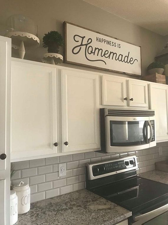 Happiness is Homemade / Wood Sign / Kitchen Sign / Homemade ...