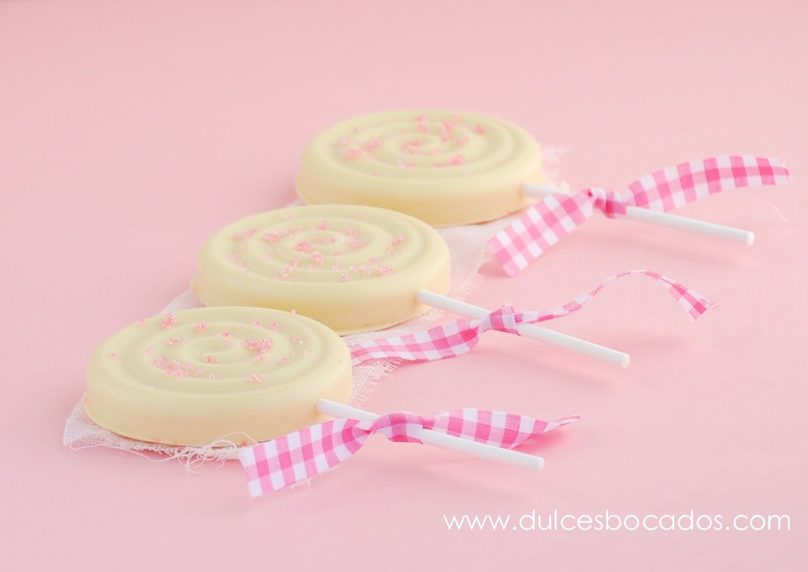 White Chocolate Rose Lollipops