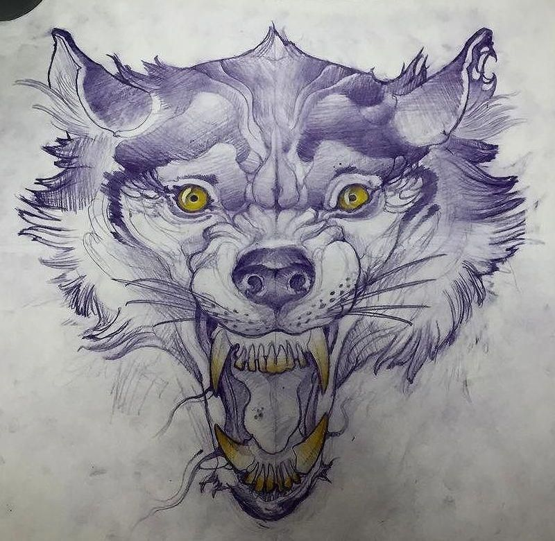 I Totally Have An Appreciation For The Color Styles Lines And Linework This Is Certainly A Very Good Artwor Animal Tattoos Wolf Tattoo Design Animal Tattoo