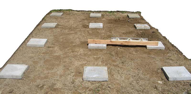 Concrete block shed foundation shed Pinterest Cement