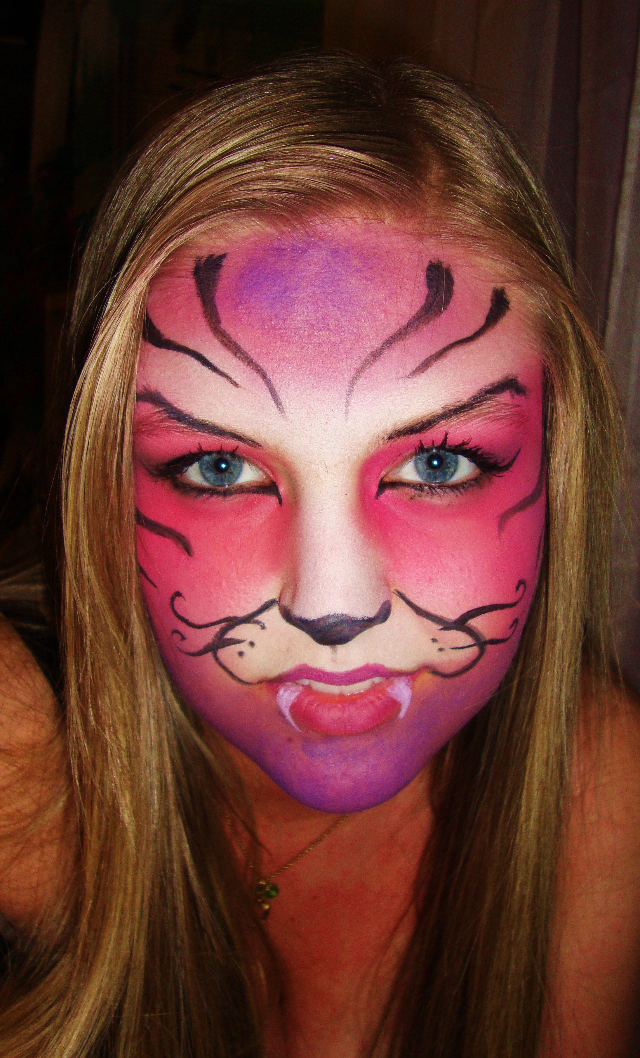 Cheshire cat face paint face painting