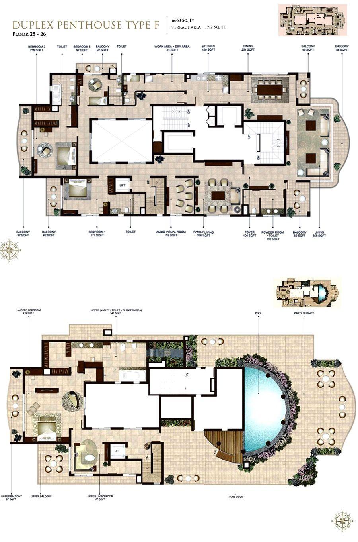 c51dfdf9c63a8b4d981d8d0a287b47b8 Luxury Pent House With Gym Building Floor Plan on