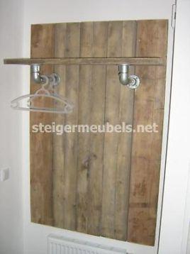 ≥ Steigerhouten Kapstok van gebruikt steigerhout - Woonaccessoires ...