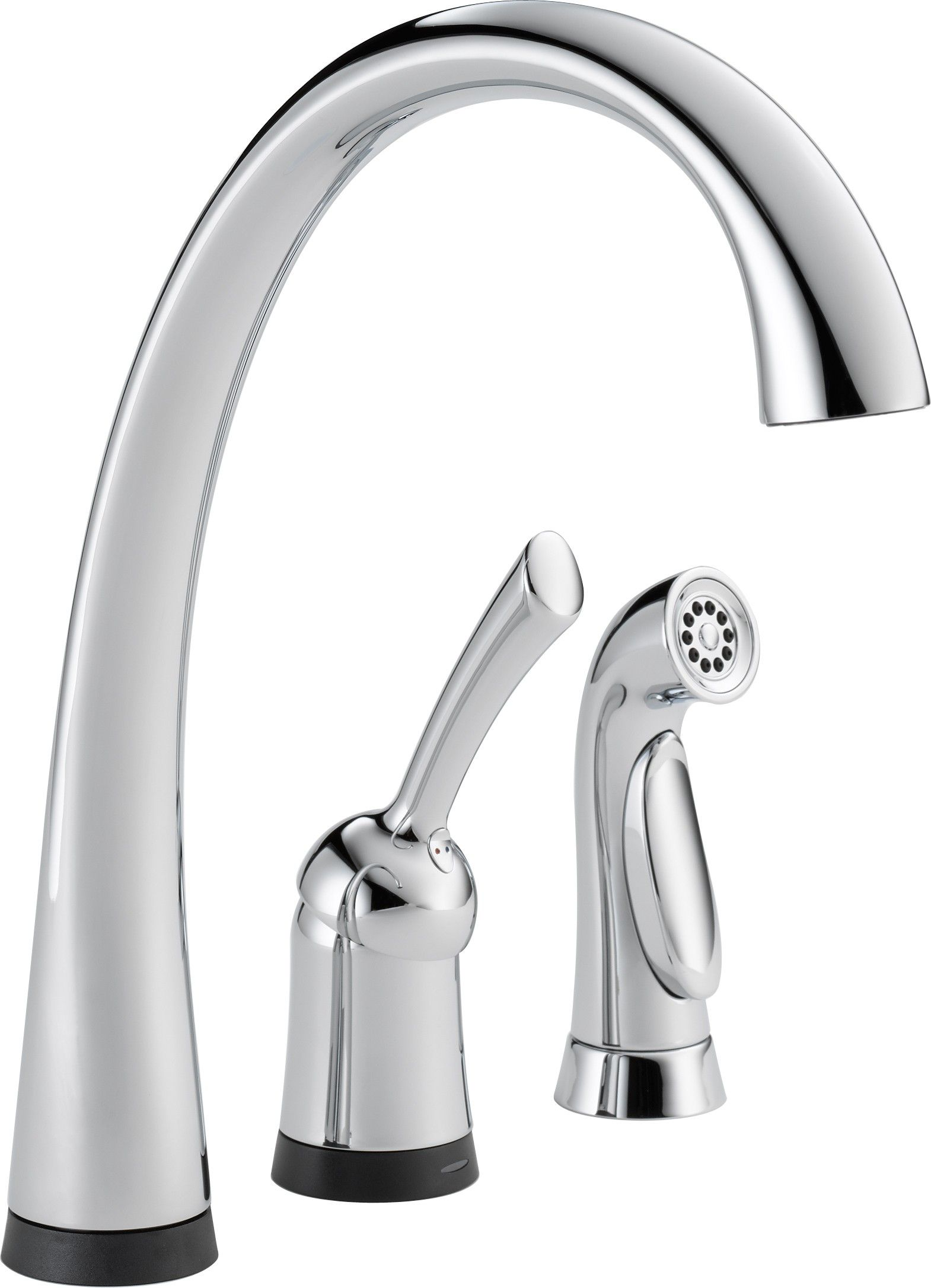 Delta 4380t Dst Pilar Single Handle Kitchen Faucet With Spray