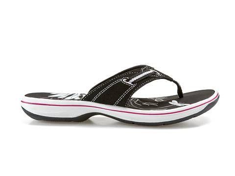clarks women's flip flop