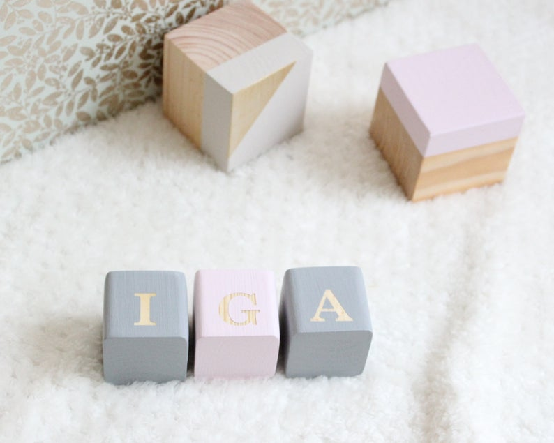 Wooden cube with engraving, Baby name blocks, Wooden letter for the nursery, Name blocks, , Custom Baby Blocks, Gift for birth, Letter cubes
