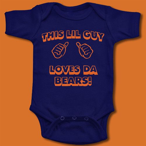 Chicago Bears T Shirt Baby Boys Onesie Guy Loves Da Bears Ditka
