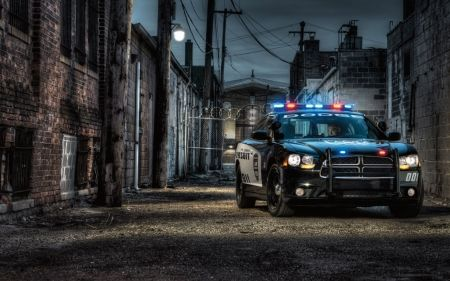 dodge charger police cruiser hdr