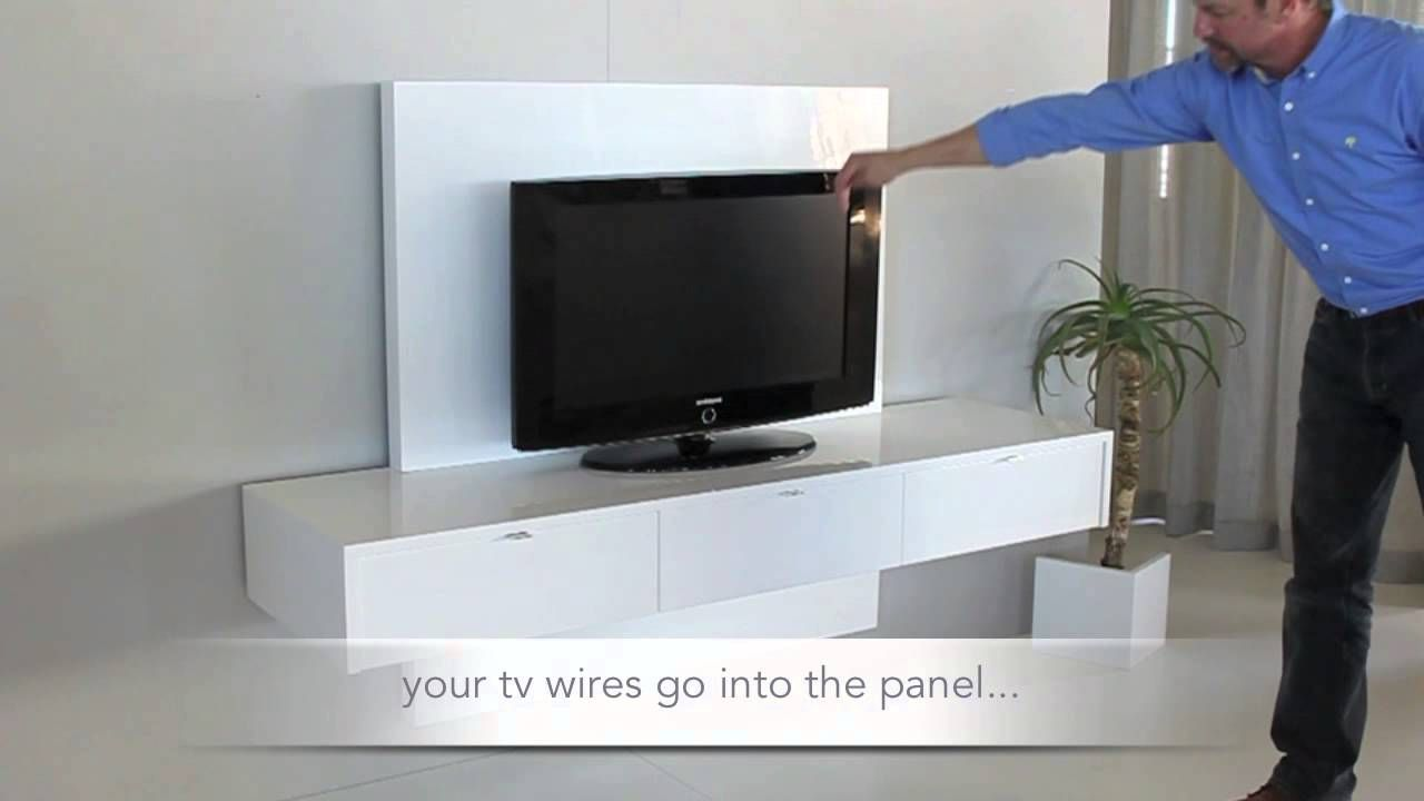 Youtube video for Ikea floating wall cabinets. | Floating TV wall ...