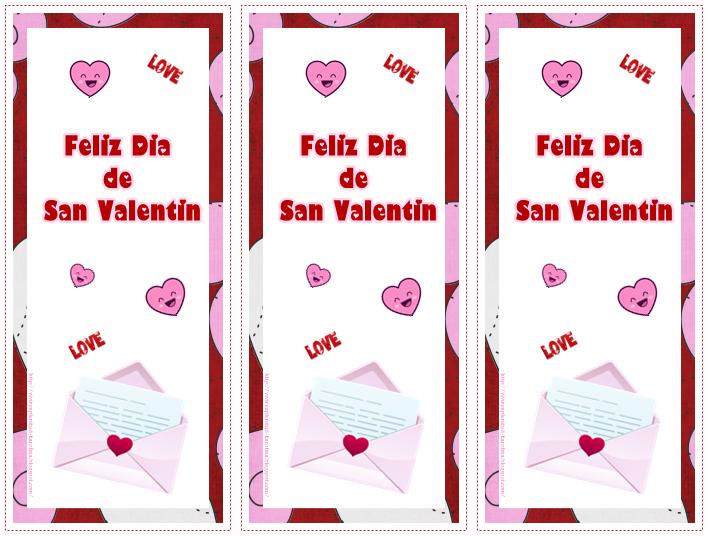 Marca páginas San Valentín | Kits de escritorio | Pinterest | San ...