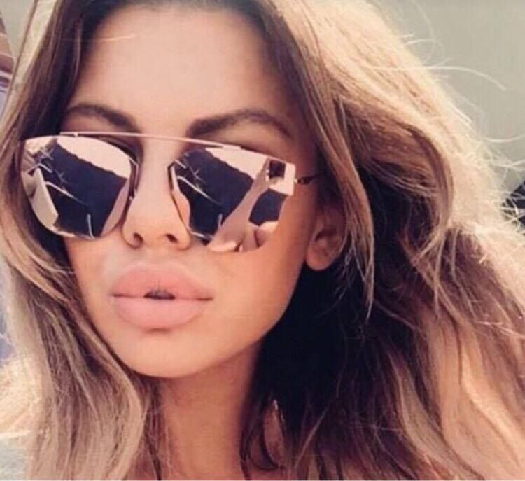 194466f41f17 Rose Gold Pink Sunglasses Kylie Ibiza Designer Love Island Free Case F  ebay   Fashion
