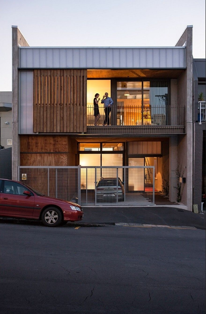 Industrial Style House In Auckland Exhibiting A Clean And Elegant