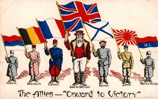 This picture representing alliances of WW1. This contributed to ...