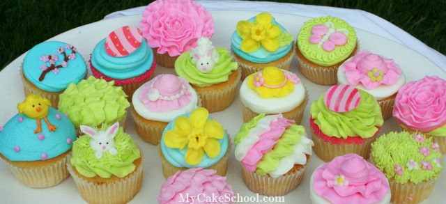 plate full of Spring cupcakes!