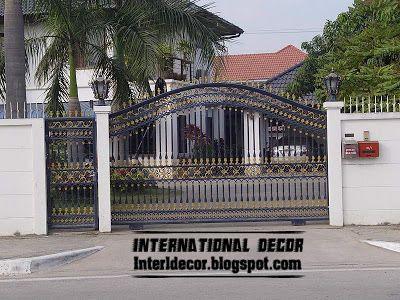 modern sliding iron gate design UK, outdoor sliding gates for modern ...