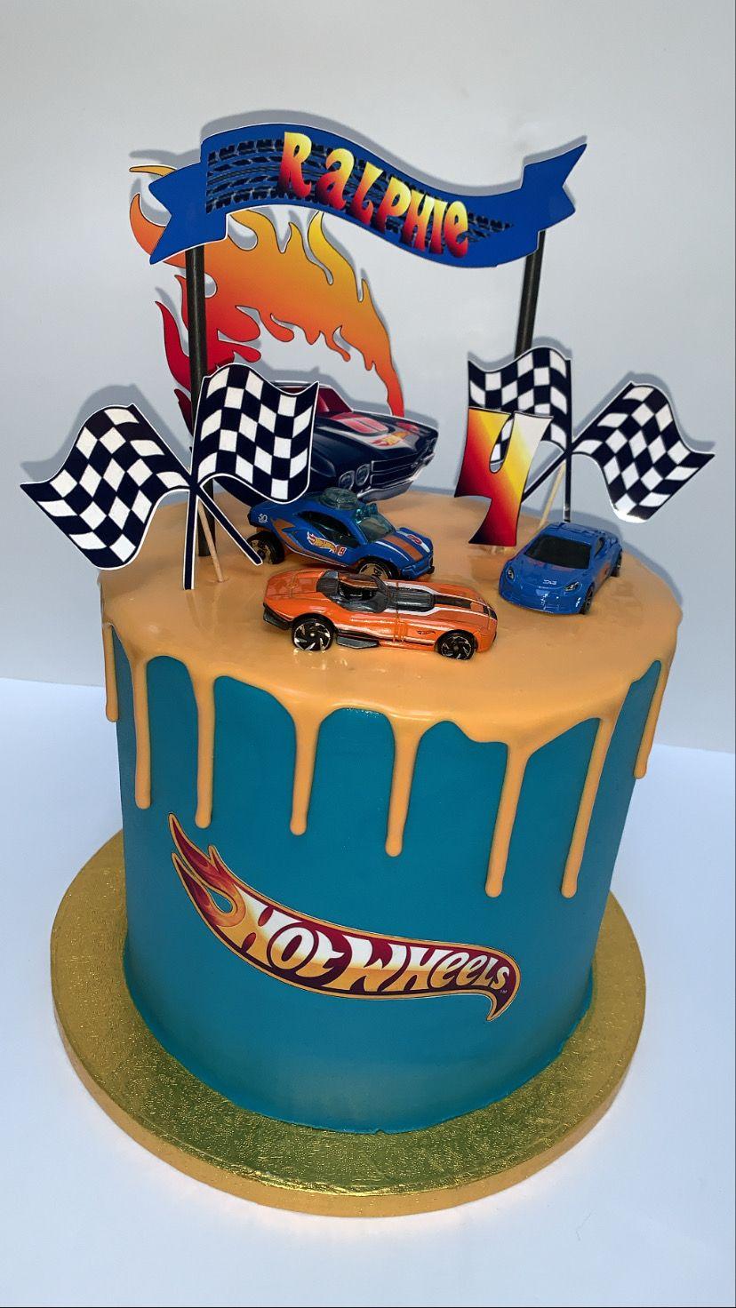 Hot wheels drip cake in 2020 hot wheels birthday cake