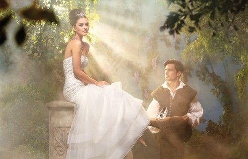 Elegante vestido de novia inspirado en Cenicienta - Foto Alfred ...